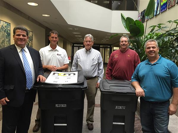New trash and recycling toters