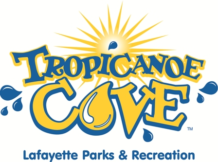 Tropicanoe Cove Lafayette Parks and Recreation Logo