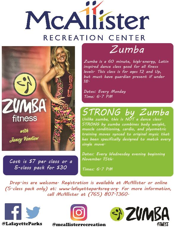 Zumba and STRONG flyer